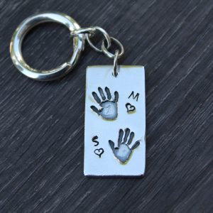 Double Handprint Keyring