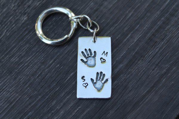 Double Handprint Keyring